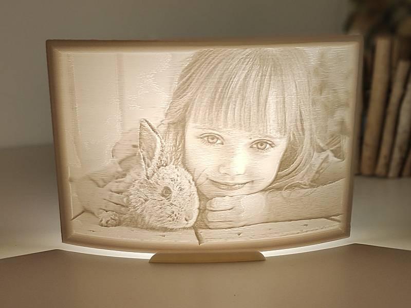personalisierte Fotolampe
